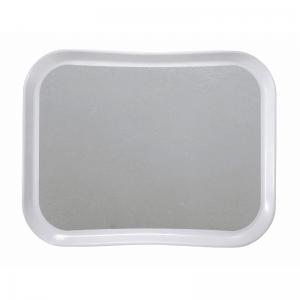 Plateau polyester 36 x 46 cm, forme Century FUN (forme profilée) - Lot de 12 Cambro - 1