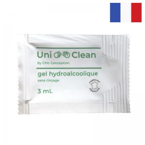 Lot de 500 Doses Individuelles de Gel Hydroalcoolique - 3 mL FourniResto - 1