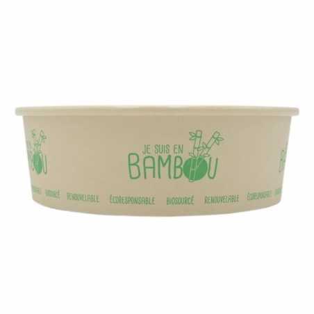 Bol à Salade en Bambou - 750 ml - Lot de 50 FourniResto - 1