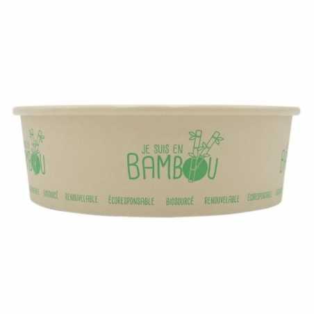 Bol à Salade en Bambou - 480 ml - Lot de 50 FourniResto - 1