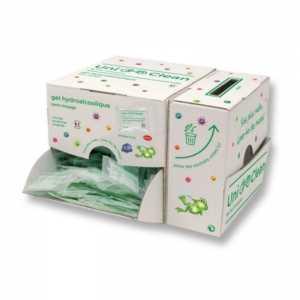Lot de 250 Doses Individuelles de Gel Hydroalcoolique - Boîte Distributrice et Collecte FourniResto - 1