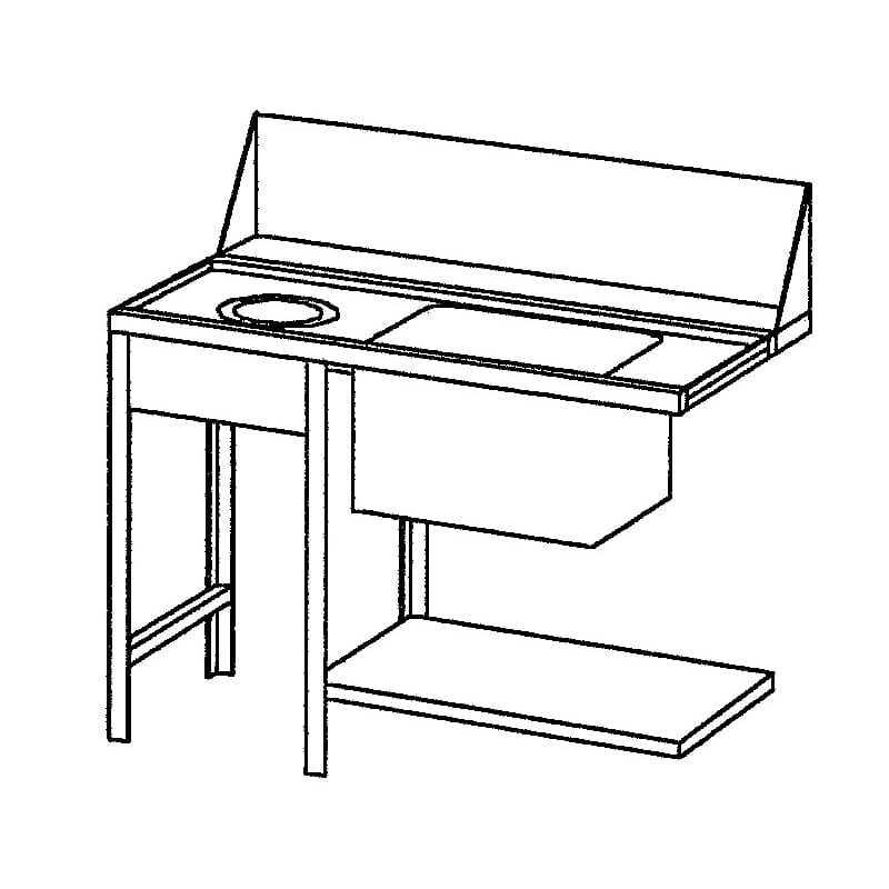 Table de Chargement Vasque + Vide Déchets