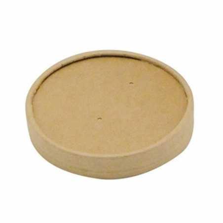 Couvercle pour Pot en Carton de 240, 360 et 480 ml - Lot de 50 FourniResto - 1