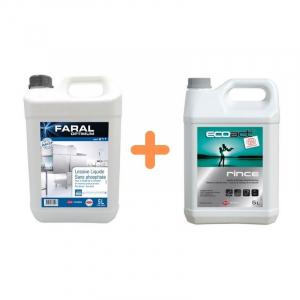 Pack Liquides de Lavage et de Rinçage Lave-Vaisselle - Eau Douce et Dure FourniResto - 1