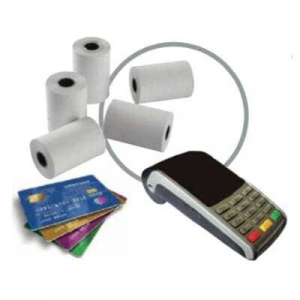 Pack de 50 Bobines de Papier Thermique pour TPE Cartes Bancaires - 57 x 40 x 12 mm FourniResto - 1