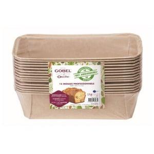 Moules à Cake Jetables en Papier - 23,3 x 11 x 6,5 cm - Lot de 15 Gobel - 1