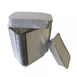 "Barquette en Aluminium avec Opercule ""Combi Pack"" - 450ml - Lot de 100 FourniResto - 1"