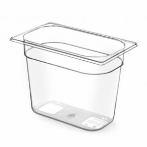 Bac Gastronorme en Tritan-Plastique GN 1/4 - 2,8 L - H 100 mm HENDI - 1