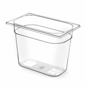 Bac Gastronorme en Tritan-Plastique GN 1/4 - 1,8 L - H 65 mm HENDI - 1