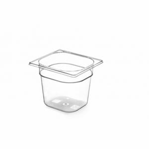 Bac Gastronorme en Tritan-Plastique GN 1/6 - 1,6 L - H 100 mm HENDI - 1