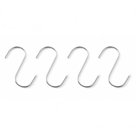 Crochets de Boucherie - 110x5 mm - Lot de 4 HENDI - 1