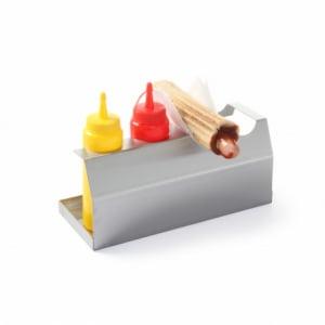 Support pour Hot-Dog - 2 Pains et 2 Flacons Disitributeurs HENDI - 1