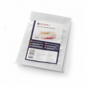 Sacs sous vide lisses pour machine à emballer 350x250 - 100 pièces HENDI - 1