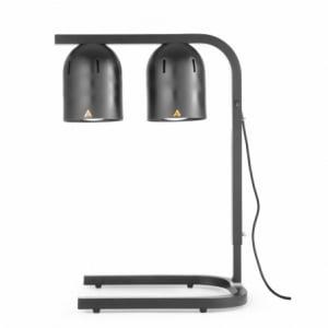 Portique chauffe-plat avec 2 lampes infrarouges Noir HENDI - 1