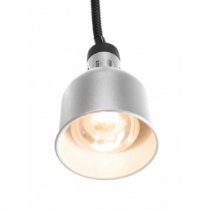 Lampe chauffante cylindrique réglable Argent HENDI - 1