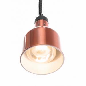 Lampe chauffante cylindrique réglable Cuivre HENDI - 1