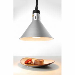 Lampe chauffante conique réglable Argent HENDI - 1