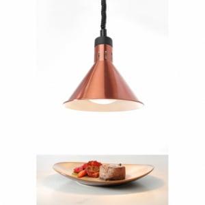 Lampe chauffante conique réglable Cuivre HENDI - 2