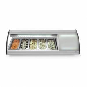 Vitrine Sushi 5x GN 1/3 63 L HENDI - 1