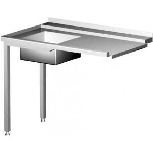 Table de chargement pour lave-vaisselle avec évier côté gauche HENDI - 1