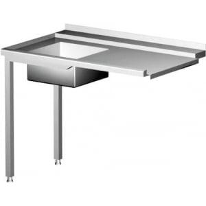 Table de chargement pour lave-vaisselle avec évier côté droit HENDI - 1