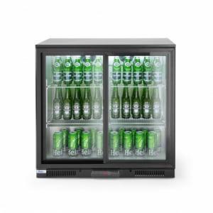 Arrière de bar réfrigéré portes coulissantes 197 L HENDI - 1