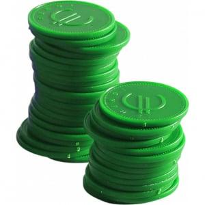 Jetons vert - 100 pièces HENDI - 1
