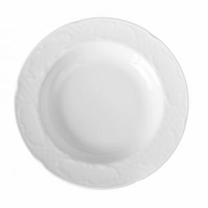 Assiette creuse en porcelaine ø235 Flora HENDI - 1