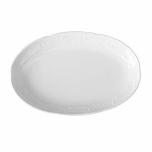 Plat ovale en porcelaine 280x180 Flora HENDI - 1