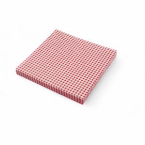 Papier sulfurisé motif carreaux 306x305 - 500 pièces HENDI - 1