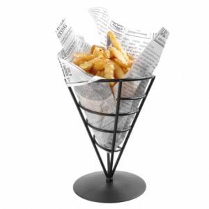 Support pour cornet de frites noir HENDI - 1
