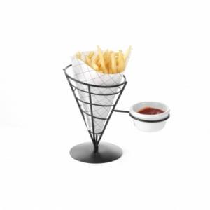 Support pour cornet de frites avec emplacement pour bol à sauce HENDI - 1