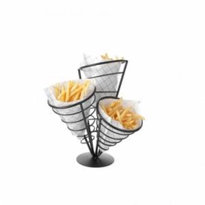Support pour 3 cornets de frites HENDI - 1