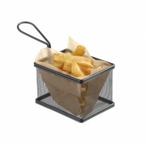Paniers à frites miniatures noir mat 100x80 HENDI - 1