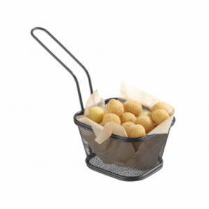 Paniers à frites miniatures empilables noir 130x115 HENDI - 1