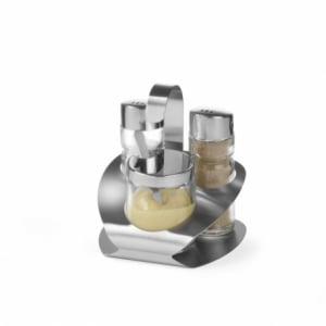 Ménagère sel, poivre et moutarde HENDI - 1