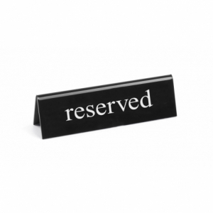 """Chevalet de table """"reserved"""" HENDI - 2"""