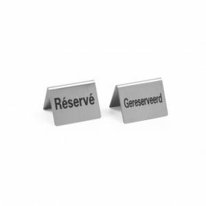Chevalet de Table Reserviert en Inox - 4 Pièces HENDI - 1