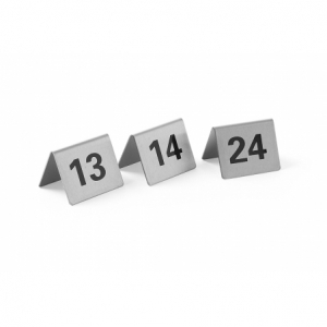 Set de 12 Chevalets de Table Numérotés de 13 à 24 HENDI - 1