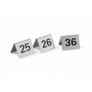 Set de 12 Chevalets de Table Numérotés de 25 à 36 HENDI - 1