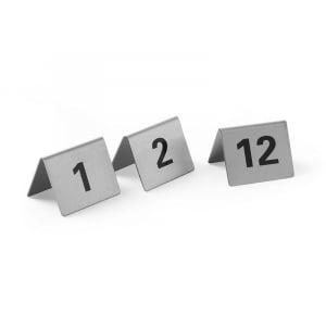 Set de 12 Chevalets de Table Numérotés de 1 à 12 HENDI - 1