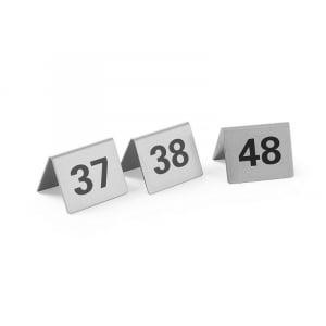 Set de 12 Chevalets de Table Numérotés de 37 à 48 HENDI - 1