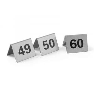 Set de 12 Chevalets de Table Numérotés de 49 à 60 HENDI - 1