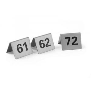 Set de 12 Chevalets de Table Numérotés de 61 à 72 HENDI - 1