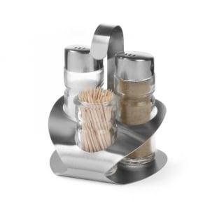 Ménagère sel, poivre et pot à cure-dents HENDI - 1