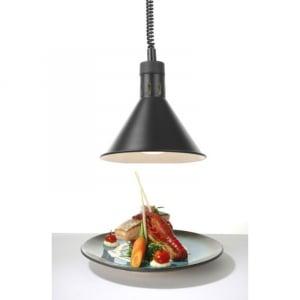 Lampe chauffante conique réglable Noir HENDI - 1