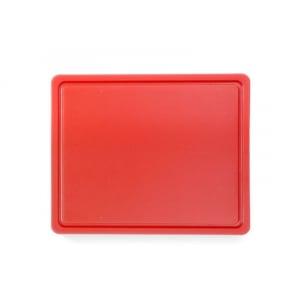 Planche à Découper HACCP - GN 1/2 - Rouge - 12 mm d'Epaisseur HENDI - 1