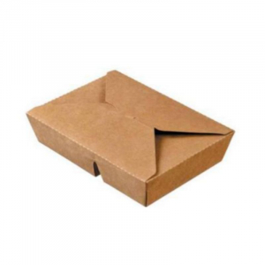 Boîte Repas à 2 Compartiments en Carton - 2 x 400 ml - Lot de 50 FourniResto - 1