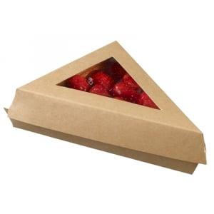 Triangle Snacking en Carton - 155 x 110 x 45 mm - Lot de 25 FourniResto - 1