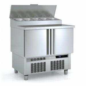 Saladette Réfrigérée Positive - 2 Portes - 169 L - 5 Bacs GN 1/4 CORECO - 1